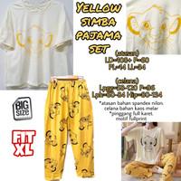 Yellow Simba Pajamas Set PIYAMA MELAR CELANA PANJANG IMPORT JUMBO XL