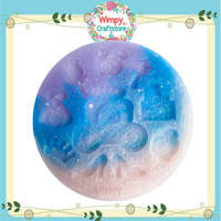 Silicone Mold Cinderella Cetakan Resin Kue Clay Sabun Pudding Wimpy 2