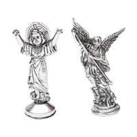 Aneka Patung Kudus Rohani Besi 8cm Pajangan Rumah Souvenir Mini Murah