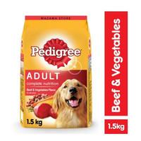 Makanan Anjing Pedigree Adult Beef 1.5 Kg / Dewasa 1.5 Kg