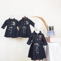 BAJU DRESS TUNIK ANAK PEREMPUAN IMPORT MURAH   DRES ANAK CEWEK Y01 - Hitam, 2-3 tahun