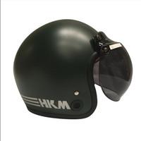 Helm retro HKM line Army doff (free kaca helm)
