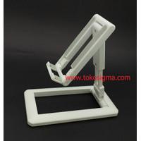Folding Desktop Phone Stand HP Tablet Holder Adjust Sudut Tinggi Lipat