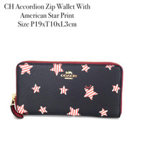 CH Accordion Zip Wallet With American