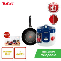 Tefal Rice Cooker & Frypan Bundling - Panci / Penggorengan