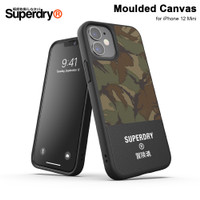 Casing iPhone 12 Mini Superdry Moulded Canvas Case - Camo Black