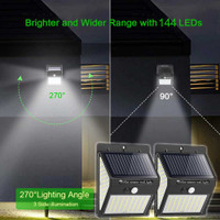Goodland Lampu Solar Sensor Gerak Outdoor Weatherproof 144 LED 1PCS