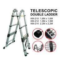Tangga Double Teleskopik 2.2+2.2 KM-214 Telescopic / fo/fiber optic
