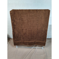 Chalmer Handuk Mandi Polos Uk. 50x100 Cm - Coklat