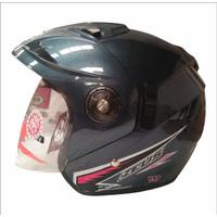 Helm Half Face / Helm GP Zeus Solid Dark Grey
