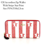 CH Accordion Zip Wallet With Stripe St
