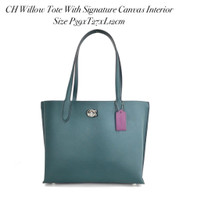 CH Willow Tote With Signature Canvas In