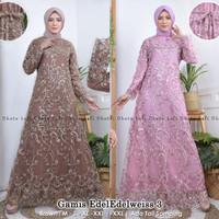 PROMO!! Dress Muslimah Tulle / Kebaya Gamis Modern Bordir Maymunah