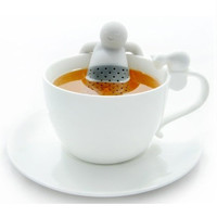 Mr. Tea Infuser / Saringan Teh Bubuk Serbuk Lucu - Gray
