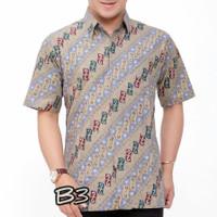 Baju batik tulis lengan pendek lapis dalam trikot B12