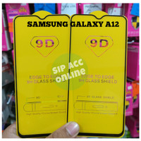 TEMPER GLASS SAMSUNG A12 FULL COVER 9D