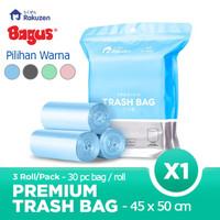 Rakuzen Premium Trash Bag Uk. 45 x 50 Kantong Sampah Bagus