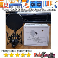 Shock Mounth With Pop Filter Mic Holder Microphone Condensor