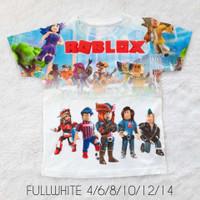 Kaos Anak Full Print Printing baju anak cowok ROBLOX FURO Baru Putih