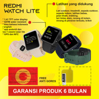 Smartwatch Xiaomi Redmi Mi Watch Lite - GPS- Garansi 6bulan - Hitam