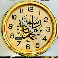 Jam dinding gold besar kaligrafi classy sweep 40cm