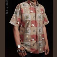 Kemeja batik pria terbaru lengan pendek BB01