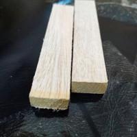 TERMURAH Kayu balsa strip 9mm x 4cm x 100CM Kayu maket bisa diwarnai