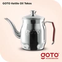 Goto Tekos Oil Pot Gooseneck Long Mouth Pour Over Stainless