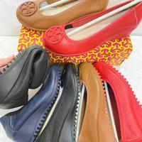 Sepatu Tory wedeges318 4 warna Red Biru Coklat Hitam Sz 36-41