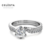 Les Solitaire Ring- Cincin Moissanite Diamond Celesta by Her Jewellery