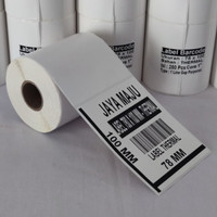 LABEL BARCODE 78 x 100 KERTAS STICKER THERMAL 3 Inch X 4 Inch