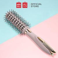 MINISO Sisir Cushion dengan Klip Round Hair Brush with Clip