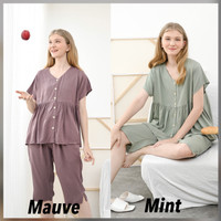 Runa Set Premium Basic - Sleepwear / Piyama Baju Tidur Rayon by RAHA