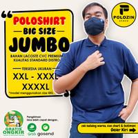 Kaos Kerah Poloshirt Polos Pria Wanita Big Size Over Size 2XL 3XL 4XL