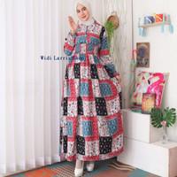 Baju Gamis Wanita Terbaru Model Kotak Gamis Busui Bahan Rayon 8466