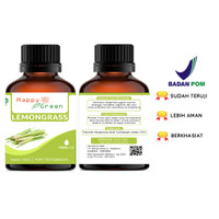 Happy Green Lemongrass Essential Oil (30 ml) Minyak Atsiri Sereh Dapur