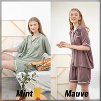 Sadie Set Premium Basic - Sleepwear / Piyama Baju Tidur Rayon by RAHA