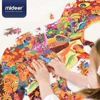 Mideer Large animal shaped puzzle dinosaur world / elephant dream