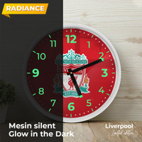 Jam dinding liverpool Glow in the dark RWD sweep movement 32cm non tik