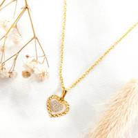Kalung Wanita Liontin Hati cantik Jewellery Necklace Gold Emas asli