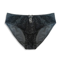 Brief Tori Velvet Pattern Black