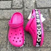 Sandal Crocs baya flower motif Sz 37-40 4 warna