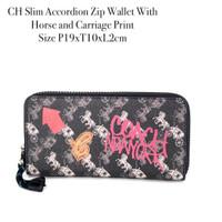CH Slim Accordion Zip Wallet With Horse