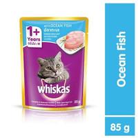 Makanan Kucing Basah Whiskas Pouch Adult 1+ Ocean Fish 85gr