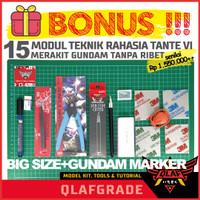 Paket Alat Rakit Gundam All in One A3 + Gundam Marker Black GM01