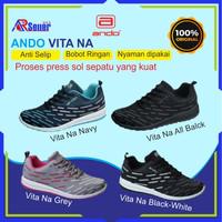 Sepatu Pria Wanita Sneakers Running Sport Original Ando