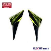LOWER COVER AEROX 155 - AKSESORIS MOTOR - BLK/YLW STABILO