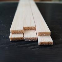 TERMURAH 1PCS Balsa strip 4mm x 20mm / 2CM balsa kayu maket kayu lis