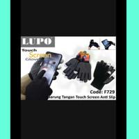 Sarung Tangan Touchscreen/Sarung Tangan Anti Selip/Sarung Tangan Hitam