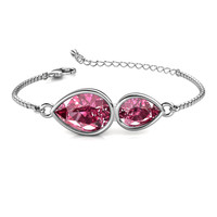 Macey Twin Bracelet - Gelang Crystal by Her Jewellery